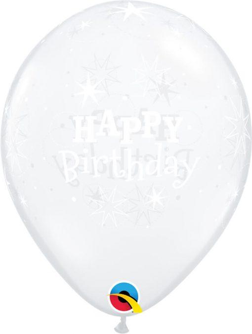 "11"" / 28cm Birthday Sparkle Diamond Clear Qualatex #54161-1"