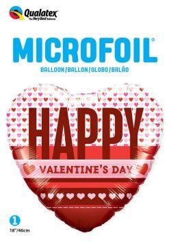 18″ / 46cm Happy Valentine's Hearts Qualatex #54832
