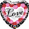 18″ / 46cm Love You Red Rose Frame Qualatex #54858