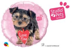 18″ / 46cm Studio Pets - Love You Terrier Qualatex #55232