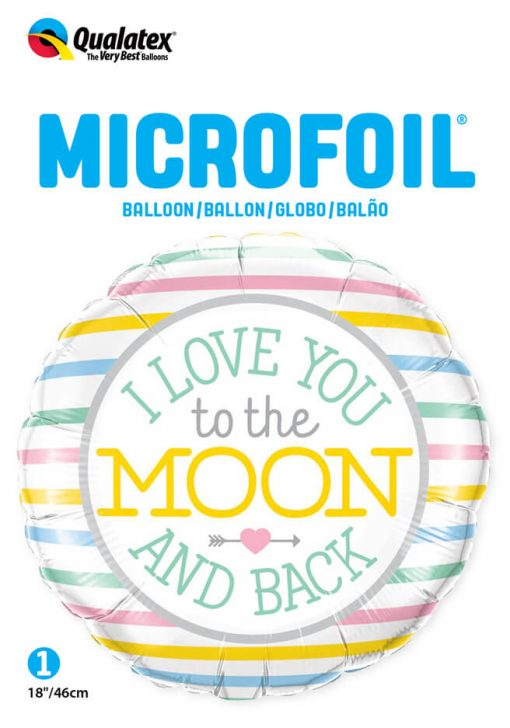 """18"""" / 46cm I Love You To The Moon Qualatex #55382"""