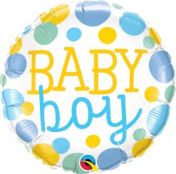 "18"" / 46cm Baby Boy Dots Qualatex #55385"