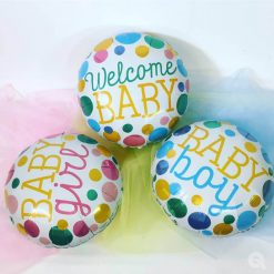"18"" / 46cm Welcome Baby Dots Qualatex #55391"