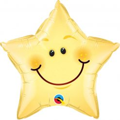 "20"" / 51cm Smiley Face Star Qualatex #55394"