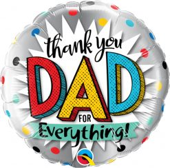 "18"" / 46cm Thank You Dad For Everything! Qualatex #55818"