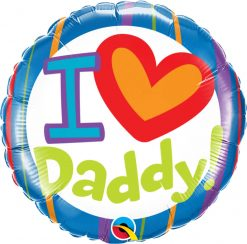 "18"" / 46cm I (Heart) Daddy! Qualatex #55821"