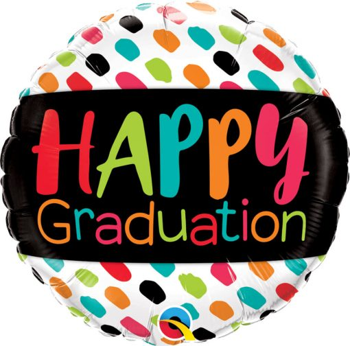 "18"" / 46cm Happy Graduation Color Dabs Qualatex #55839"