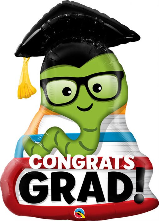 """37"""" / 94cm Congrats Grad Bookworm Qualatex #55873"""