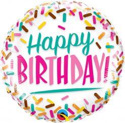 18″ / 46cm Birthday Sprinkles Qualatex #57265
