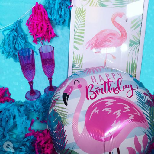 18″ / 46cm Birthday Pink Flamingo Qualatex #57274