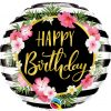 18″ / 46cm Birthday Hibiscus Stripes Qualatex #57280