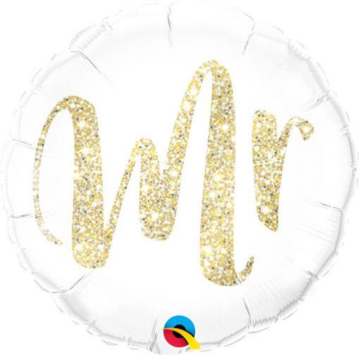 "18"" / 46cm Mr. Glitter Gold Qualatex #57313"