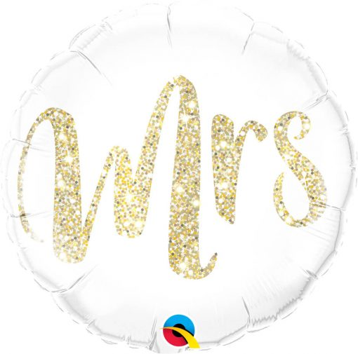 "18"" / 46cm Mrs. Glitter Gold Qualatex #57316"