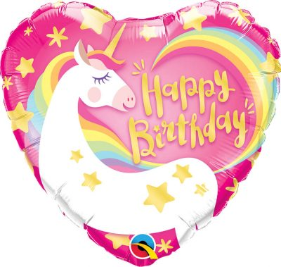 18″ / 46cm Birthday Magical Unicorn Qualatex #57319