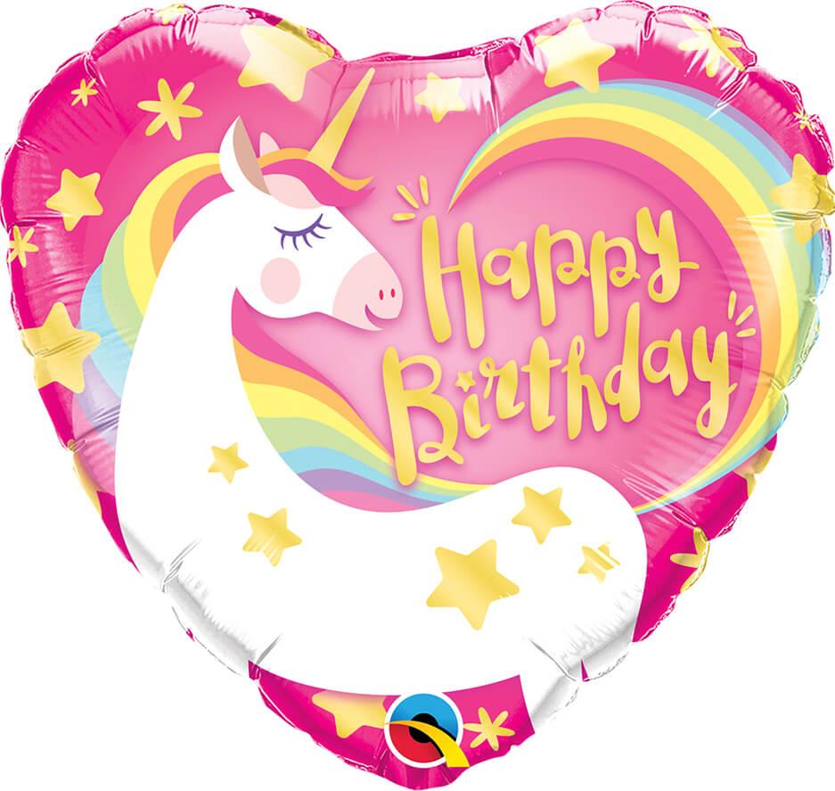 18″ / 46cm Birthday Magical Unicorn Qualatex #57319