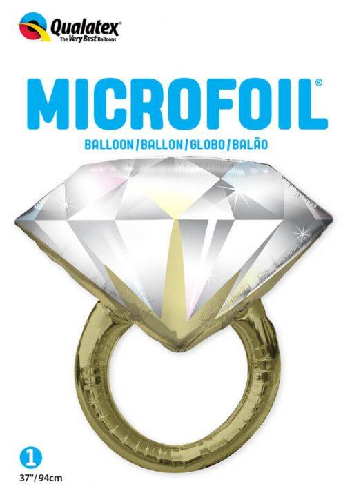 "37"" / 99cm Diamond Wedding Ring Qualatex #57819"