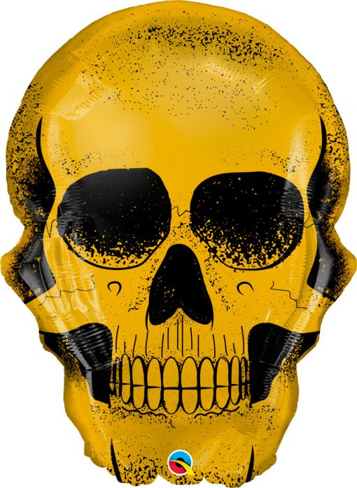 36″ / 91cm Golden Skull Qualatex #58135