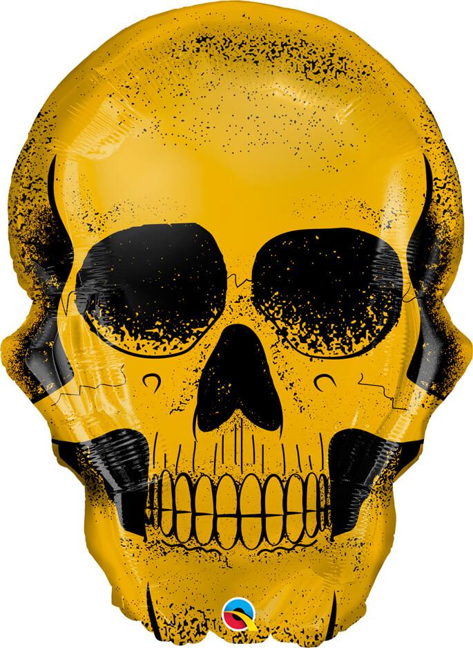 36″ / 91cm Golden Skull Qualatex #58135