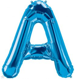 """34"""" / 86cm Blue Letter A North Star Balloons #59229"""