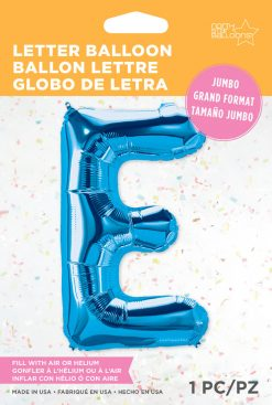 "34"" / 86cm Blue Letter E North Star Balloons #59237"