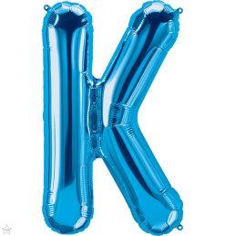 """34"""" / 86cm Blue Letter K North Star Balloons #59249"""