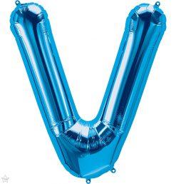 """34"""" / 86cm Blue Letter V North Star Balloons #59271"""
