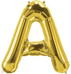 """34"""" / 86cm Gold Letter A North Star Balloons #59281"""