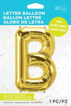 "34"" / 86cm Gold Letter B North Star Balloons #59283"