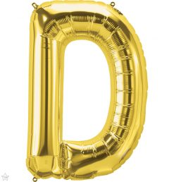 """34"""" / 86cm Gold Letter D North Star Balloons #59287"""