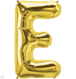 "34"" / 86cm Gold Letter E North Star Balloons #59289"