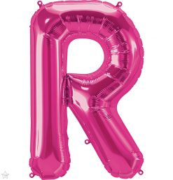 "34"" / 86cm Magenta Letter R North Star Balloons #59638"