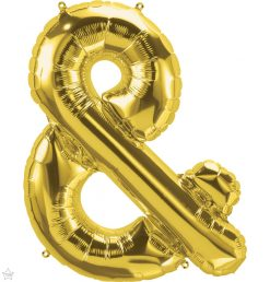 "34"" / 86cm Gold Symbol & North Star Balloons #59905"