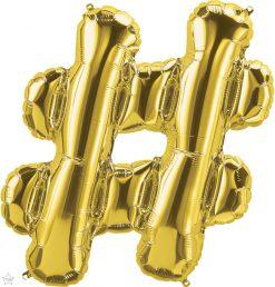 "34"" / 86cm Gold Symbol # North Star Balloons #59909"