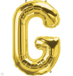 "34"" / 86cm Gold Letter G North Star Balloons #59924"