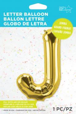 "34"" / 86cm Gold Letter J North Star Balloons #59930"