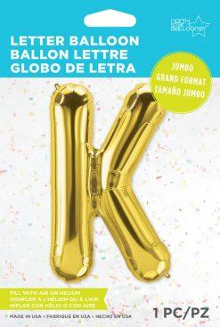"34"" / 86cm Gold Letter K North Star Balloons #59932"