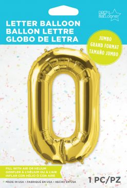 """34"""" / 86cm Gold Letter O North Star Balloons #59940"""