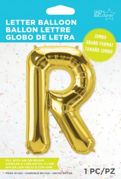 """34"""" / 86cm Gold Letter R North Star Balloons #59946"""