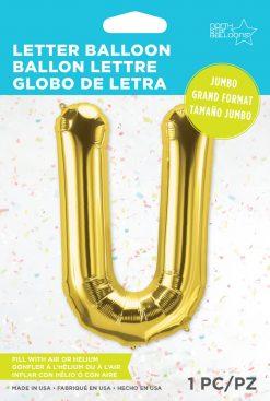 "34"" / 86cm Gold Letter U North Star Balloons #59952"