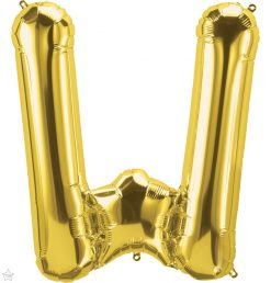 """34"""" / 86cm Gold Letter W North Star Balloons #59956"""