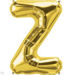 "34"" / 86cm Gold Letter Z North Star Balloons #59962"