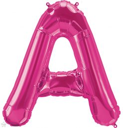 """34"""" / 86cm Magenta Letter A North Star Balloons #59964"""