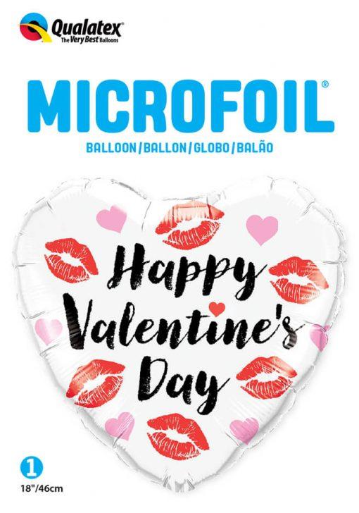 18″ / 46cm Valentine's Kissey Lips Qualatex #78547