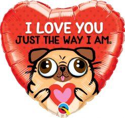 18″ / 46cm I Love You Just The Way I Am Qualatex #78551