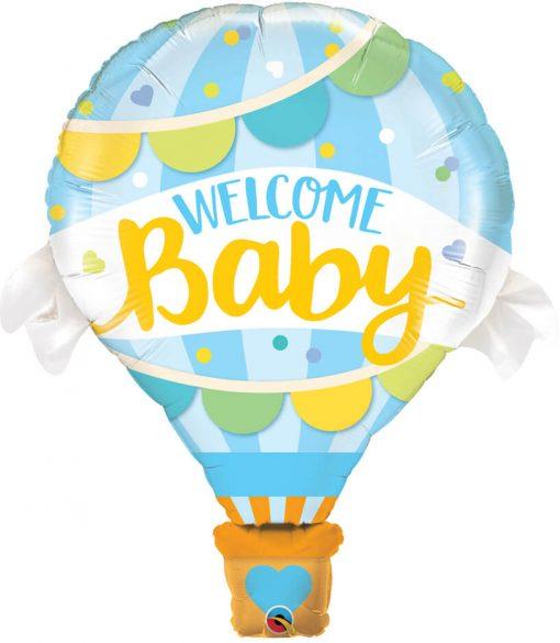 42″ / 106cm Welcome Baby Blue Balloon Qualatex #78654