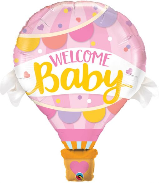 42″ / 106cm Welcome Baby Pink Balloon Qualatex #78656