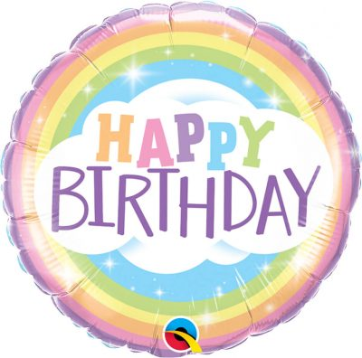 18″ / 46cm Birthday Rainbow Qualatex #78658