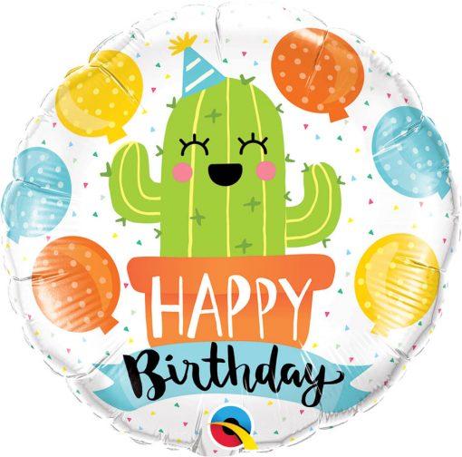 18″ / 46cm Birthday Party Cactus Qualatex #78664