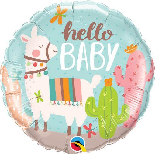 18″ / 46cm Hello Baby Llama Qualatex #78689