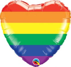 18″ / 46cm Rainbow Stripes Qualatex #78715